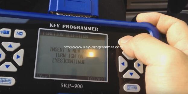 skp900-insérer un nouveau-ford-clé