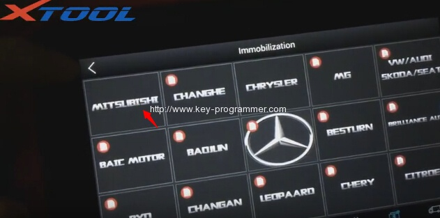 xtool-X100-パッドプログラム三菱アウトランダー鍵-3