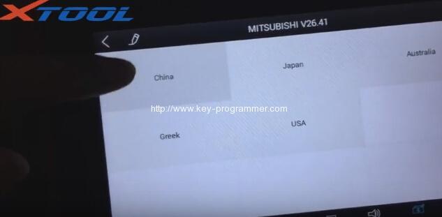 xtool-X100-パッドプログラム三菱アウトランダー鍵-4