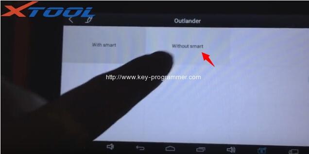 xtool-X100-パッドプログラム三菱アウトランダー鍵7