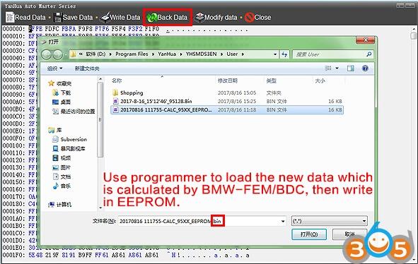 5 Steps To Program Bmw Fem Bdc Key With Yanhua Bmw Fem Programmer