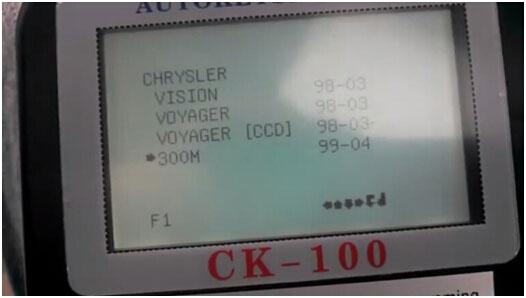 CK100 to program Chrysler 300M Smart Key 3-3