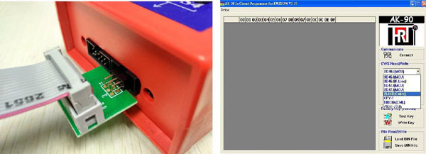 bmw ews ic adaptor for x prog or ak90 and r270 programmer 5-5