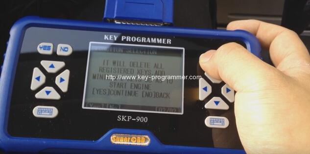 skp900 key progranner add new key 9-9