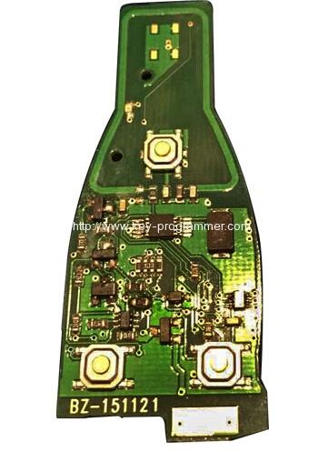 benz key 3 button pcb 1-4