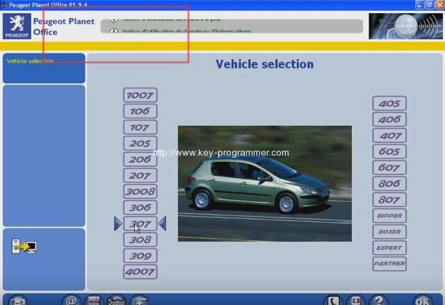 Lexia 3 PP2000 program peugeot 307 keys 1-4