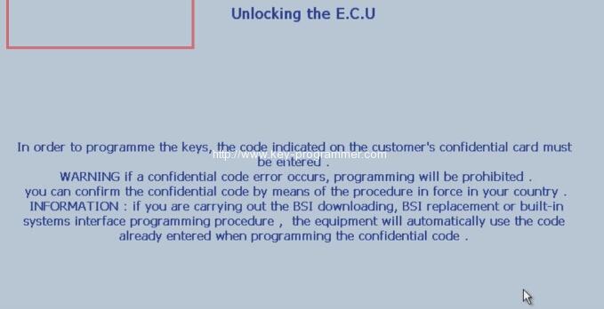 Lexia 3 PP2000 program peugeot 307 keys 10-13