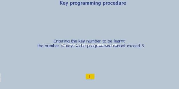 Lexia 3 PP2000 program peugeot 307 keys 14-17