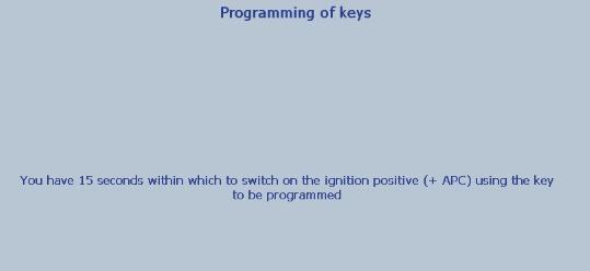 Lexia 3 PP2000 program peugeot 307 keys 17-20