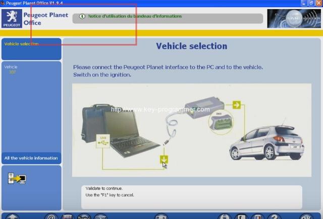 Lexia 3 PP2000 program peugeot 307 keys 2-5