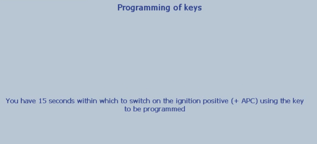 Lexia 3 PP2000 program peugeot 307 keys 22-25