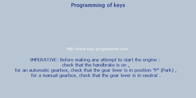 Lexia 3 PP2000 program peugeot 307 keys 25-28
