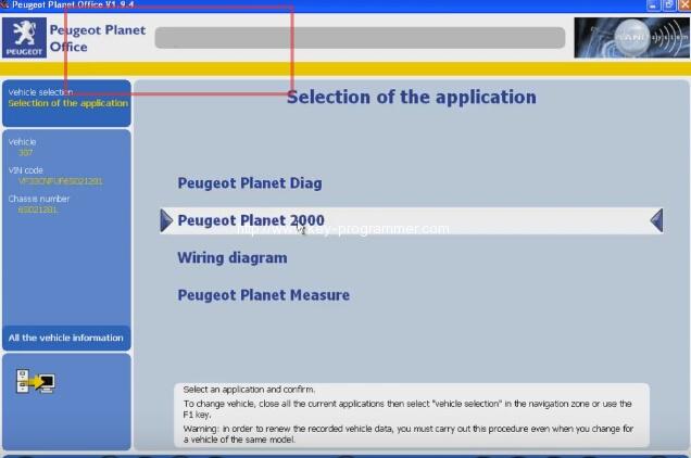 Lexia 3 PP2000 program peugeot 307 keys 4-7
