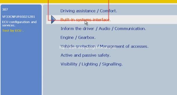 Lexia 3 PP2000 program peugeot 307 keys 6-9