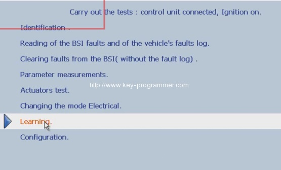 Lexia 3 PP2000 program peugeot 307 keys 7-10