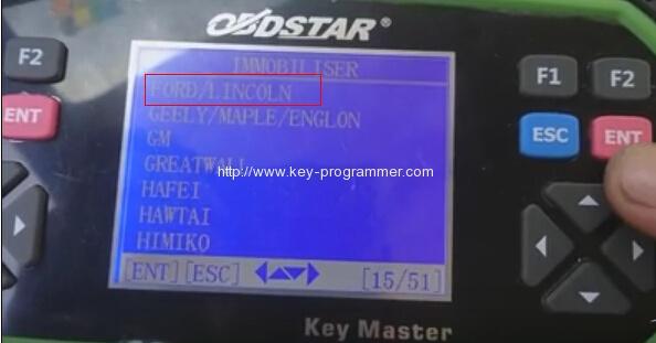 obdstar program ford transit key 3-3
