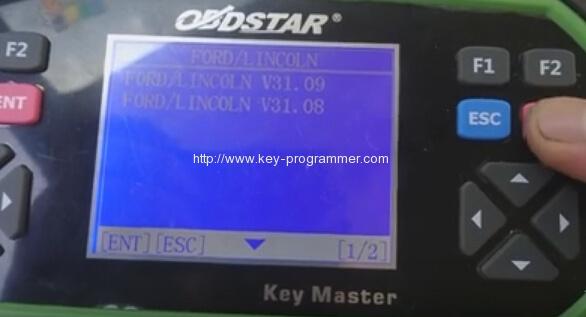 obdstar program ford transit key 4-4