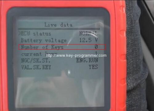 obdstar x100 pro erase keys 12-13