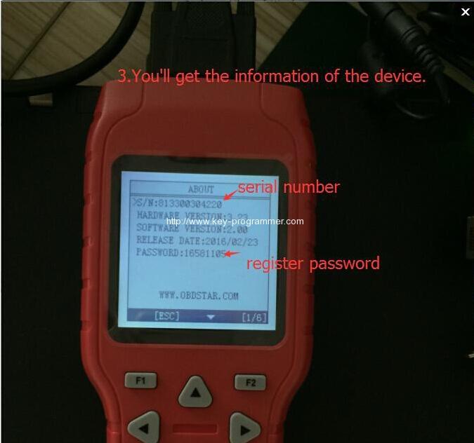 register obdstar tool 3-3
