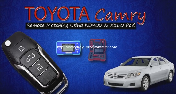 Xtool X100 PAD Program Remote on Toyota Camry 2010+