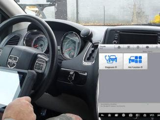 How to use Autel MaxiSys to Program 2012 Dodge Caravan FOBIK Key