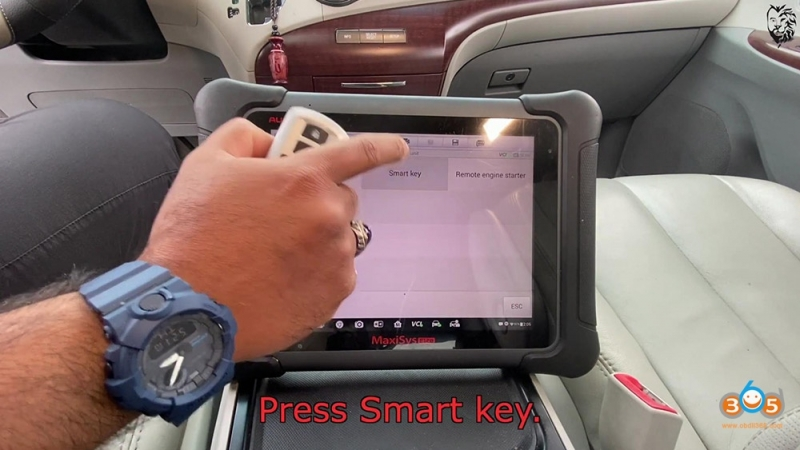 Autel MaxiSys Elite program Toyota Sienna 2013 Smart Keyfob