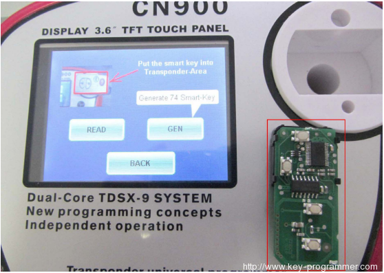 CN900 YS30 register 3370 to generate smart key