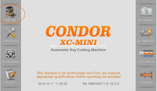 Condor XC-Mini Key Cutting Machine Clamp Calibration