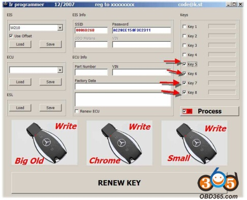 How to use Benz MB IR NEC Key Programmer