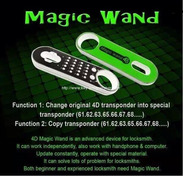 How to use Magic Wand 4C 4D Transponder Chip Generator