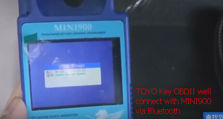 Program Toyota 72G All Keys Lost by ND900 Mini and TOYO Key OBDII